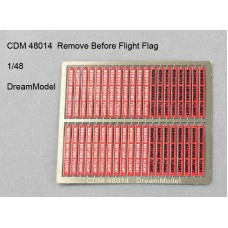 Dreammodel 1/48 48014 Color PE Remove Before Flight Tags Flags
