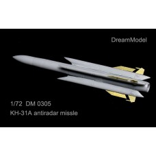 Dreammodel 1/72 0305 Kh-31A Kh-31 AS-17 Krypton anti-radiation missile Resin