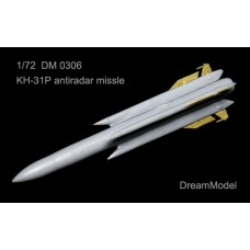 Dreammodel 1/72 0306 Kh-31P Kh-31 AS-17 Krypton anti-radiation missile Resin