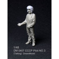 Dreammodel 1/48 0407 CCCP Soviet Russia Air Force Pilot Figure 3 Resin talking