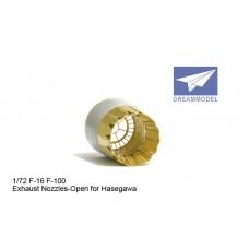 Dreammodel 1/72 0523 Fighter F-16 F100 Exhaust Nozzel Nozzle PE