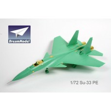Dreammodel 1/72 0529 Russian Fighter Flanker-D SU-33 Detail PE for Hasegawa