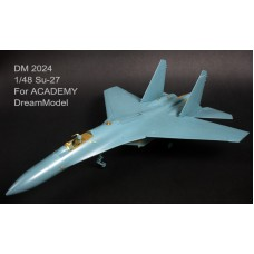 Dreammodel 1/48 2024 SU-27 Russian Sukhoi Update Detail PE for Academy kit