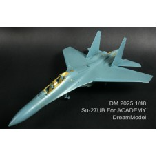 Dreammodel 1/48 2025 SU-27 SU-27UB Russian Sukhoi Update Detail PE for Academy kit
