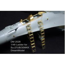 Dreammodel 1/48 2028 SU-27UB SU-30MKK Russian Sukhoi Ladder Update Detail PE