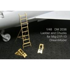 Dreammodel 1/48 2036 MiG-21F-13 MiG-21 Ladder Chucks PE for Trumpeter kit