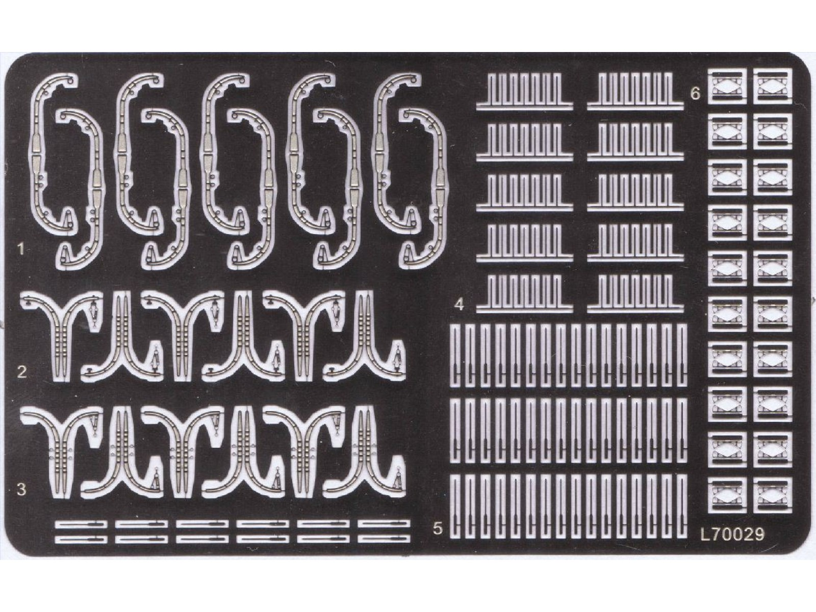 Ship Vessels Detail Update PE 1//700 040 Perforated bar free shipping