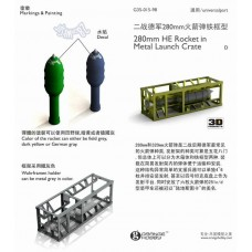 OrangeHobby 1/35 015 280mm HE Rocket Metal Launch Crate Detail Update Metal PE
