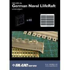 OrangeHobby 1/350 005 German Naval Life Raft Lifeboat Resin