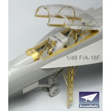 Dreammodel 1/72 0509 US Navy Fighter F-18F Detail Update PE for Hasegawa