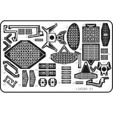 Ship Vessels Detail Update photo etched PE 1/350 080 Modern Russian Navy Rader