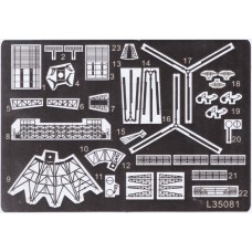 Ship Vessels Detail Update photo etched PE 1/350 081 Sovremenny class destroyer