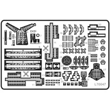 Ship Vessels Detail Update photo etched PE 1/700 048 for North Carolina-class battleship