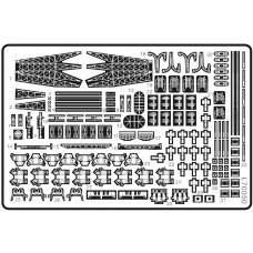 Ship Vessels Detail Update photo etched PE 1/700 050 for King George V class battleship