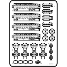 Ship Vessels Detail Update photo etched PE 1/700 072 WWII IJN Catapults
