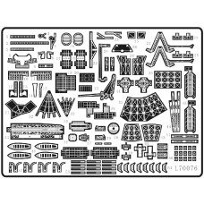 Ship Vessels Detail Update photo etched PE 1/700 076 for IJN Kongo class battle cruiser