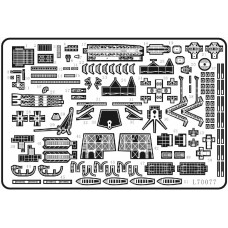 Ship Vessels Detail Update photo etched PE 1/700 077 for IJN Nagato-class battleship