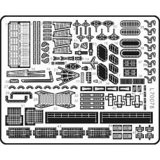 Ship Vessels Detail Update photo etched PE 1/700 078 for IJN Shokaku-class aircraft carrier