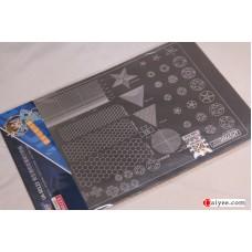 USTAR U-STAR TOOLS 80123 Metal Masking Sheet Cutting Template Number Shape