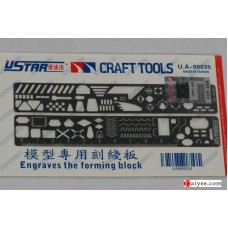 USTAR U-STAR TOOLS 90035 PE Photo etched Tool Scribing Panel Template